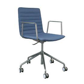 Bureaustoel Salou - Licht blauw / zilver - Lage rugleuning *OUTLET*