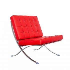 Barcelona Chair (replica) - Rood *OUTLET*