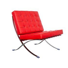 Barcelona chair rood