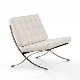 witte barcelona chair