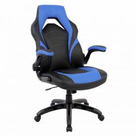 budget gaming stoel blauw