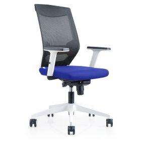 bureaustoel brescia blauw zitvlak