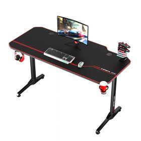 Gaming bureau zwart/rood - 140x66 cm