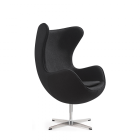 Egg Chair Zwart *OUTLET* #01