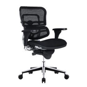COMFORT bureaustoel Ergohuman Classic (zonder hoofdsteun) - Stoffen zitting - Zwart
