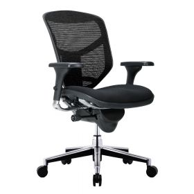COMFORT bureaustoel Enjoy Classic (zonder hoofdsteun) - Stoffen zitting - Zwart