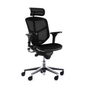 COMFORT bureaustoel Enjoy Classic (met hoofdsteun) - Mesh zitting - Zwart *OUTLET*