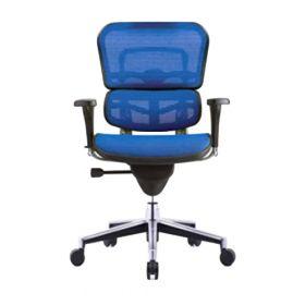 COMFORT bureaustoel Ergohuman Classic (zonder hoofdsteun) - Blauw voorkant