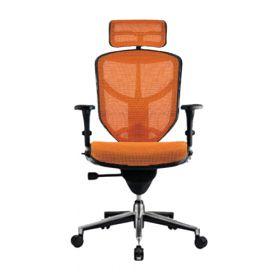 COMFORT bureaustoel Enjoy Classic (met hoofdsteun) - Oranje voorkant