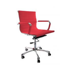 design bureaustoel rood