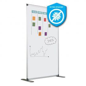 Scheidingswand dubbelzijdig - Whiteboard - Extra hygiënisch emaille - 180x120 cm
