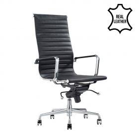 Bureaustoel Madrid Zwart - 100% leder *OUTLET*