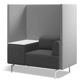 soft seating vergaderstoel individueel met tafel