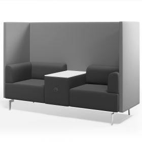 soft seating vergaderstoel 2 zits met tafel