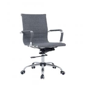 Valencia bureaustoel grijs stof