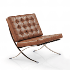 Barcelona Chair (replica) - Vintage brown
